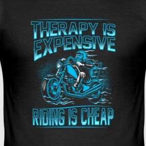 Therapie is duur rijden is goedkoop - slim fit T-shirt