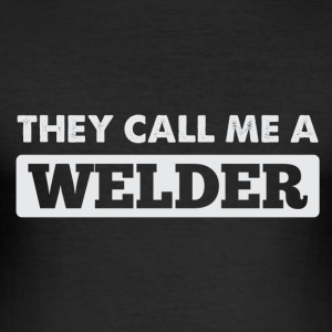 welder skjorta - Slim Fit T-shirt herr