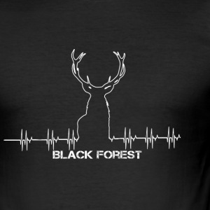 Black Forest Heartbeat white - Männer Slim Fit T-Shirt