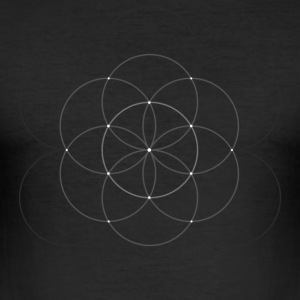 Flower of Life - Slim Fit T-skjorte for menn