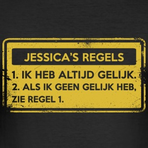 Jessica's rules. Original gift. - Men's Slim Fit T-Shirt