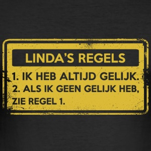 Linda's rules. Original gift. - Men's Slim Fit T-Shirt