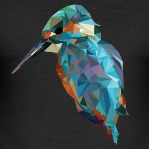 bird in triangles - Men's Slim Fit T-Shirt