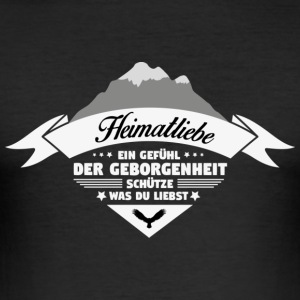 Heimatliebe! Homeland! Patriot! - Men's Slim Fit T-Shirt