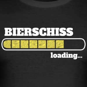 Bierschiss loading - Männer Slim Fit T-Shirt