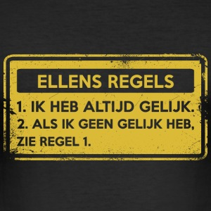 Ellens regler. Original gave. - Slim Fit T-skjorte for menn