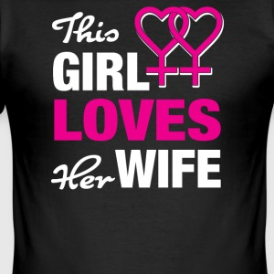 This girl loves her wife - Men's Slim Fit T-Shirt