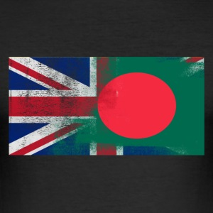 British Bangladeshi Half Bangladesh Half UK Flag - Slim Fit T-shirt herr