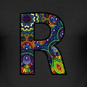 Letter R Mandala - Men's Slim Fit T-Shirt
