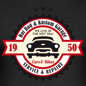 Hot Rod och Kustom Garage - Slim Fit T-shirt herr