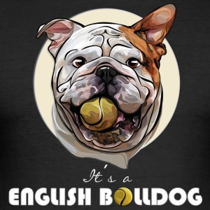 ENGLISH BULLDOG balldog - Männer Slim Fit T-Shirt