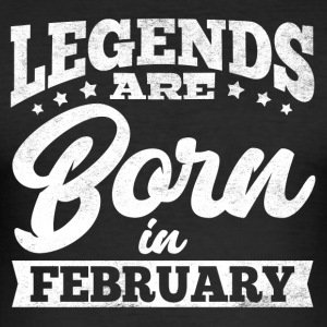 LEGENDSFebruary - Men's Slim Fit T-Shirt