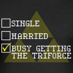 Getting the Triforce - Men's Slim Fit T-Shirt