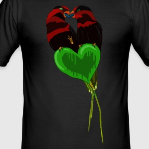 Love birds från BlackenedMoonArts - Slim Fit T-shirt herr