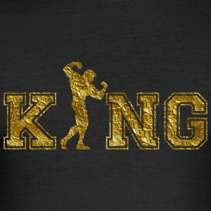 Fitness Bodybuilder King - Männer Slim Fit T-Shirt