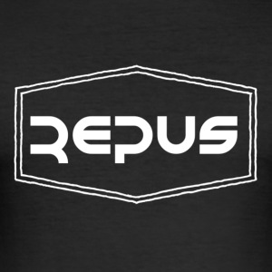 Repus Logo - Men's Slim Fit T-Shirt