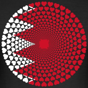 Bahrain البحرين Bahrain Love Heart Mandala - Slim Fit T-shirt herr
