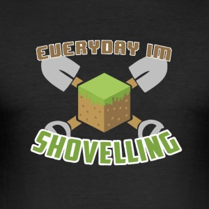 Everyday Jeg Shovelling - Slim Fit T-skjorte for menn