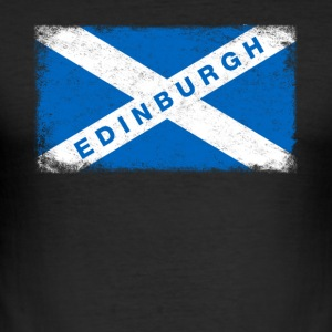 Edinburgh Shirt Vintage Skotland Flag T-shirt - Herre Slim Fit T-Shirt