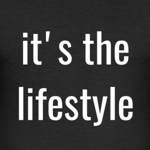 the lifestyle - Men's Slim Fit T-Shirt