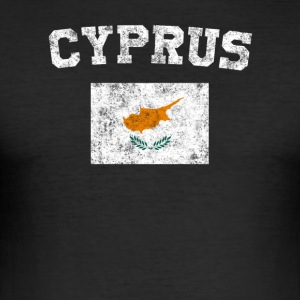 Cypern Flag Shirt - Vintage Cypern-T-shirt - Herre Slim Fit T-Shirt