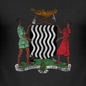 Zambia Coat of Arms Zambia Symbol - Men's Slim Fit T-Shirt