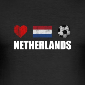 Netherlands Football Netherlander or Dutch Soccer - Men's Slim Fit T-Shirt
