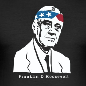 President Franklin Roosevelt American Patriot - Men's Slim Fit T-Shirt