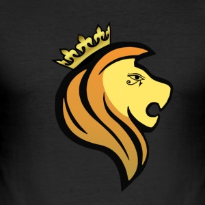 Lion of RA - Männer Slim Fit T-Shirt