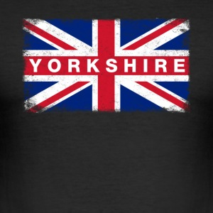 Yorkshire Shirt Vintage United Kingdom Flag - Men's Slim Fit T-Shirt