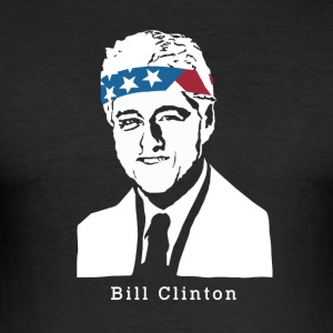 President Bill Clinton Amerikaanse Patriot Vintage - slim fit T-shirt