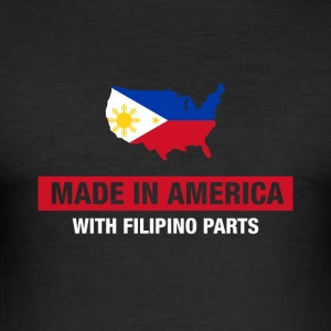 Made In America Avec Filipino Parts Philippines - Tee shirt près du corps Homme