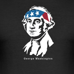 President George Washington amerikanske Patriot - Slim Fit T-skjorte for menn