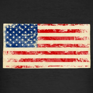 Amerika - Slim Fit T-shirt herr