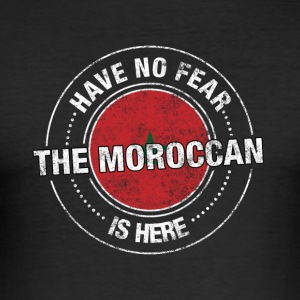 Avez-No Fear The Moroccan Is Here Shirt - Tee shirt près du corps Homme