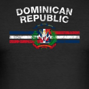 Dominican Flag Shirt - Dominican Emblem & Dominica - Men's Slim Fit T-Shirt