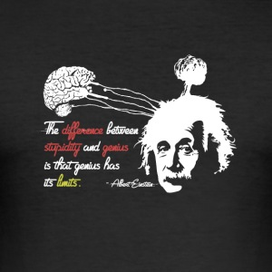 Shirt Albert Einstein avec Genius Quote - Tee shirt près du corps Homme