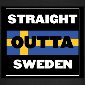Straight Outta Sverige - Herre Slim Fit T-Shirt