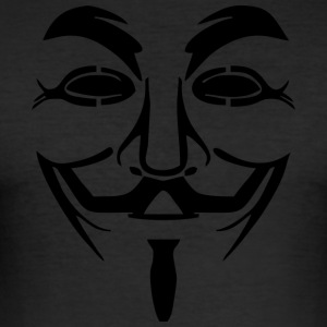 Vendetta mask - Guy Fawkes (Anonymous) - Slim Fit T-shirt herr