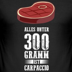 Grillen! Carpaccio! - Männer Slim Fit T-Shirt