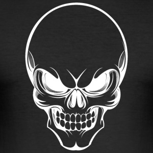 Skull 002 runda design - Slim Fit T-shirt herr