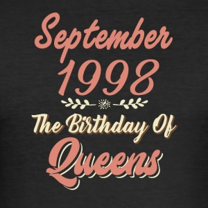 September 1998 Födelsedagen av Queens - Slim Fit T-shirt herr