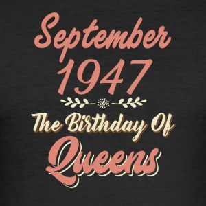 September 1947 The Birthday Of Queens - Men's Slim Fit T-Shirt