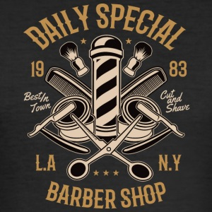 Daily Special Barber Shop2 - Men's Slim Fit T-Shirt