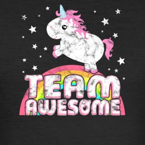 Cool Unicorn Team Awesome Vintage Shirt - Men's Slim Fit T-Shirt