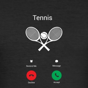 tennis samtaler - Slim Fit T-skjorte for menn