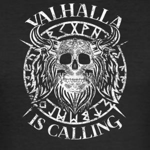 Odin Viking Valhalla Gets kraniet stave - Herre Slim Fit T-Shirt