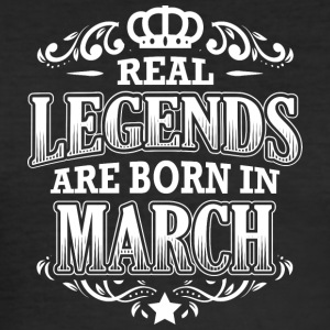 BIRTHDAY REAL LEGENDS march - Männer Slim Fit T-Shirt