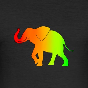 elefant flerfarget - Slim Fit T-skjorte for menn