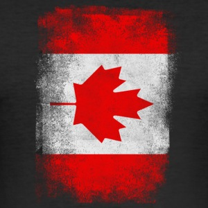 Canada Flag Proud Canadian Vintage Distressed - Slim Fit T-shirt herr